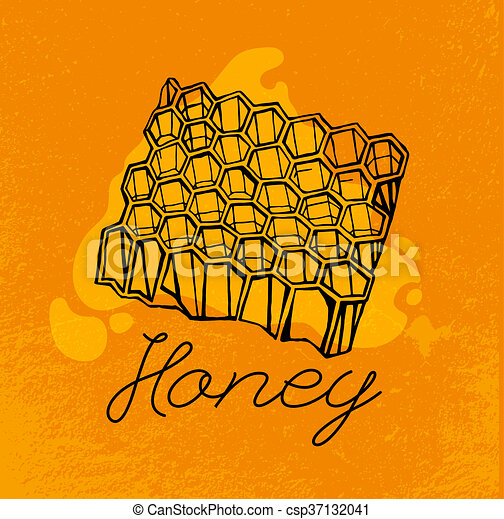 Artistic Bee Hive Drawing