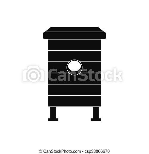 Beehive black simple icon - csp33866670