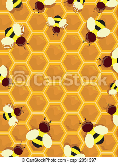 Beehive Frame - csp12051397