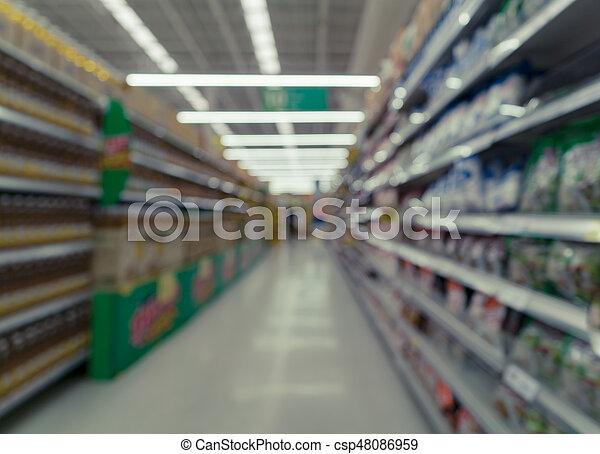 beeld, supermarkt, vaag - csp48086959