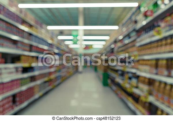 beeld, supermarkt, vaag - csp48152123