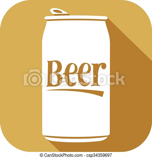 beer can flat icon - csp34359697