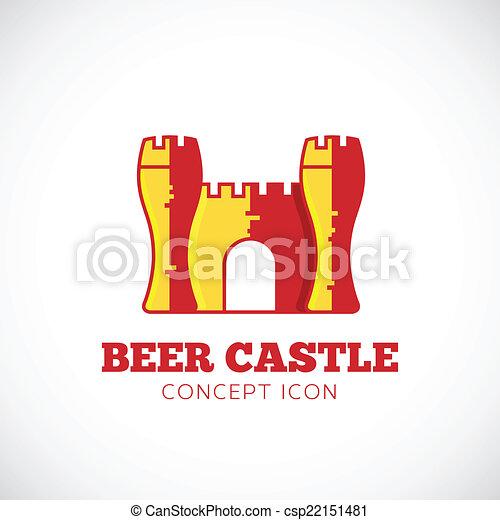 Beer Castle Vector Concept Symbol Icon - csp22151481