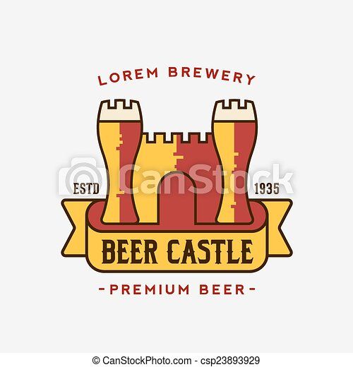 Beer Castle Vector Logo Template - csp23893929