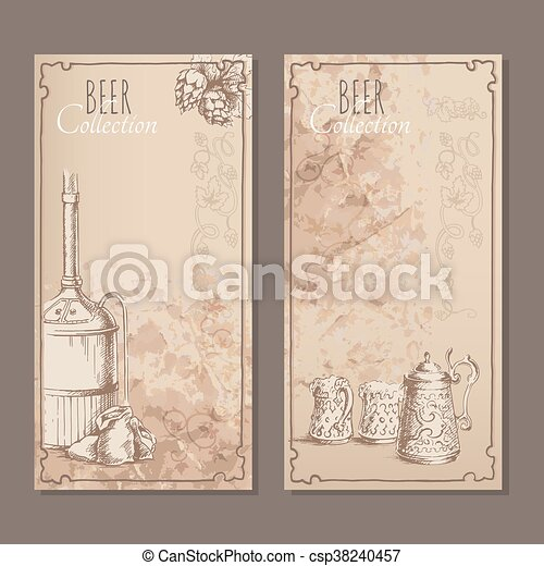 Beer collection cards - csp38240457