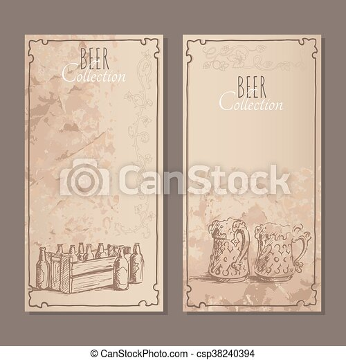Beer collection cards - csp38240394