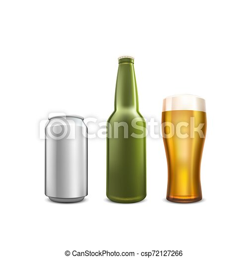 Beer collection set object on the white background. - csp72127266