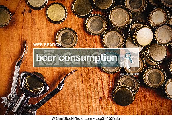 Beer consumption - web search - csp37452935
