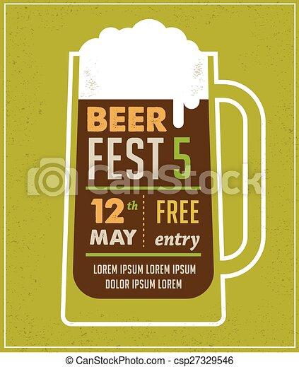 Beer Festival Vintage Poster