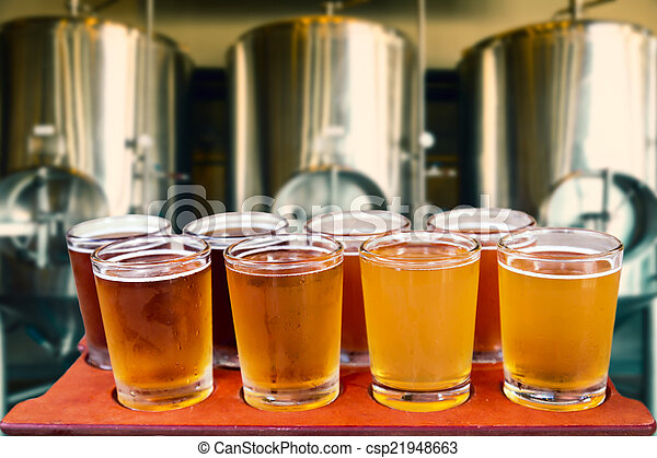 beer flight - csp21948663