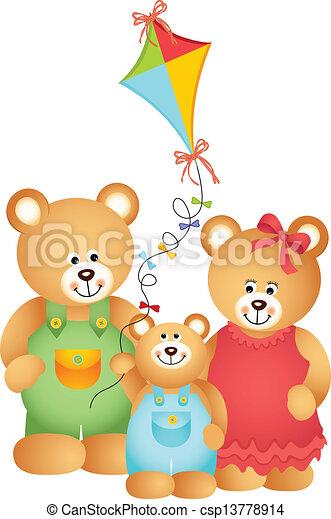 beer, gezin, teddy - csp13778914