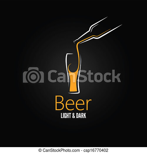 beer glass design menu background  - csp16770402