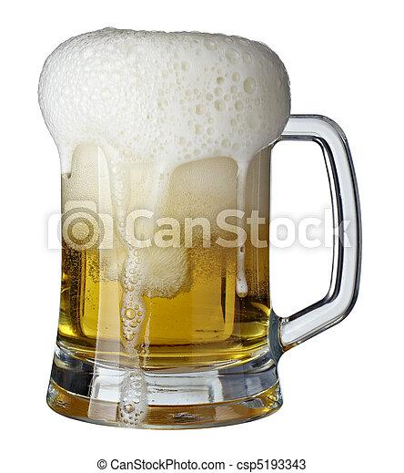 beer glass pint drink beverage alcohol - csp5193343