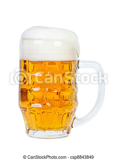 Beer glass with handle. - csp8843849