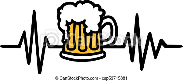 beer heartbeat vector search clip art illustration drawings and rh canstockphoto com heart rate clip art free heartbeat clipart free