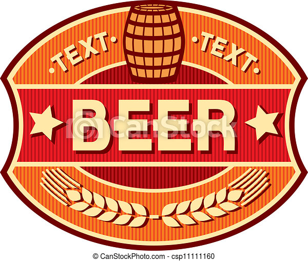 beer label design - csp11111160