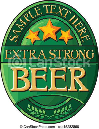 beer label design - csp15282866