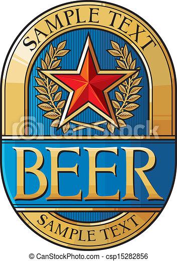beer label design - csp15282856