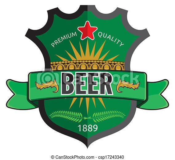Beer label design  - csp17243340