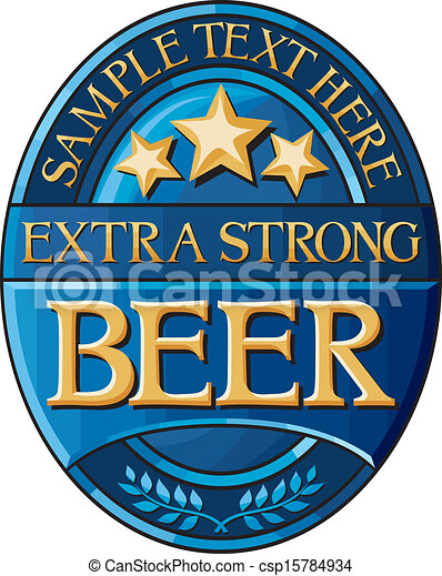 beer label design - csp15784934