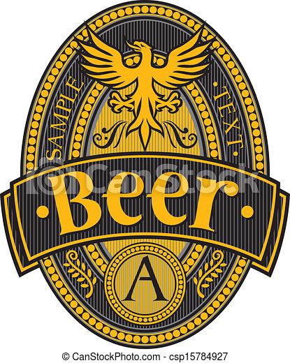 beer label design - csp15784927