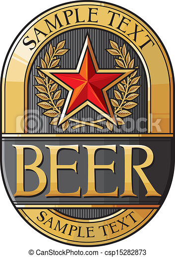 beer label design - csp15282873