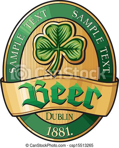 beer label design- irish beer label - csp15513265