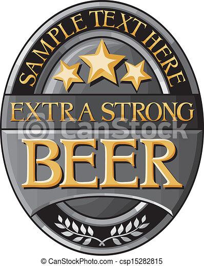 beer label design - csp15282815