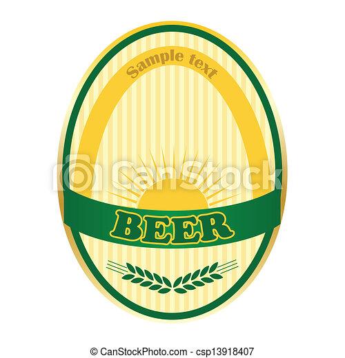 Beer label design. - csp13918407