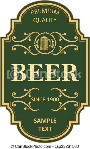 Beer label design - csp33261500