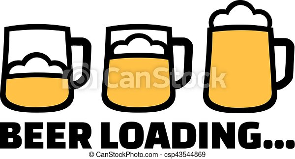 beer loading with three mugs and foam clip art vector search rh canstockphoto ca