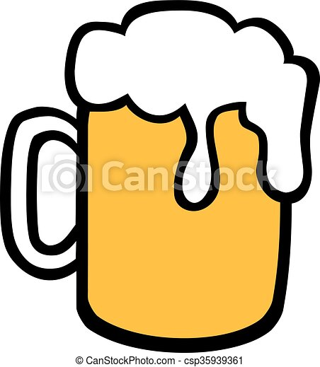 beer mug with foam clip art vector search drawings and graphics rh canstockphoto com clipart beer mug clip art beer barrel
