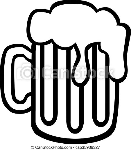beer mug with foam hand drawn vector illustration search clipart rh canstockphoto com beer mug clipart vector beer mug clipart vector