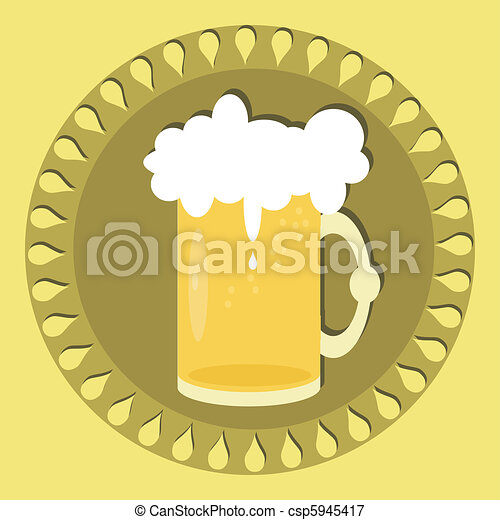 beer mug with ornament - csp5945417