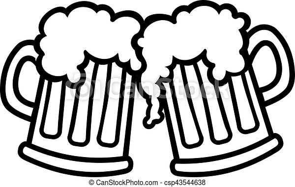 beer mugs cartoon cheers vectors search clip art illustration rh canstockphoto com cheers clipart black and white cheers clipart png