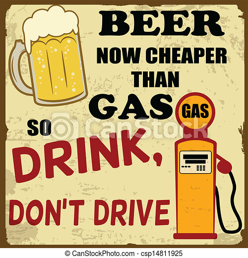 Beer now cheaper than gas - csp14811925