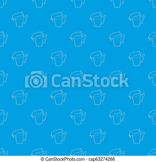 Beer pattern seamless blue - csp63274266