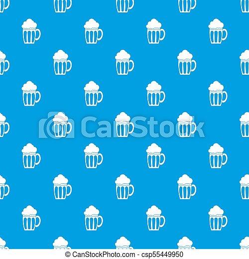 Beer pattern seamless blue - csp55449950
