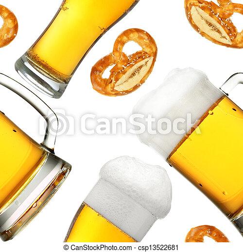 Beer seamless pattern - csp13522681