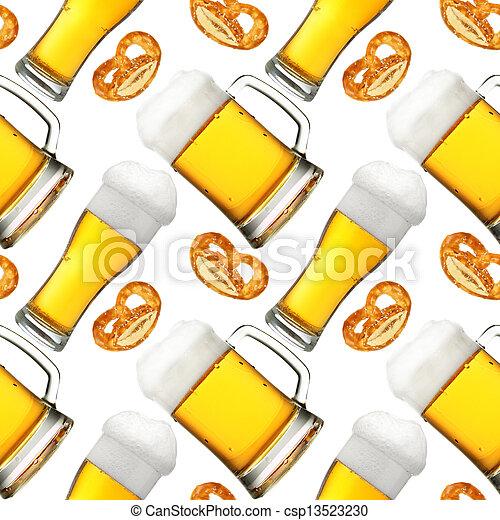 Beer seamless pattern - csp13523230