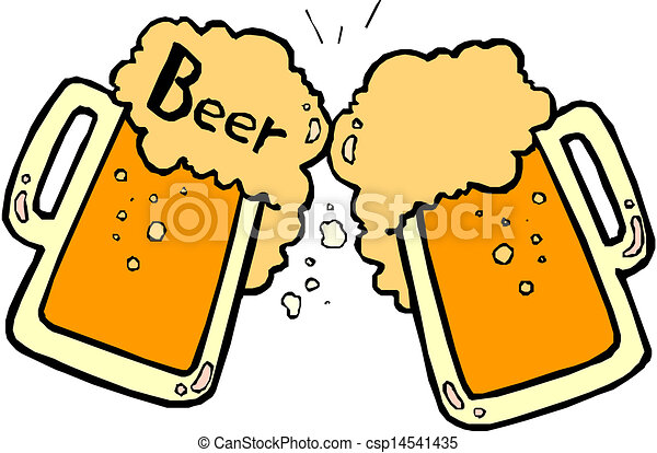 beer splashing  - csp14541435