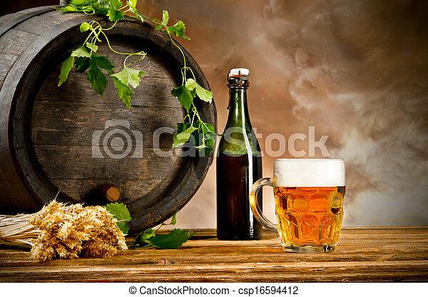 Beer still life - csp16594412