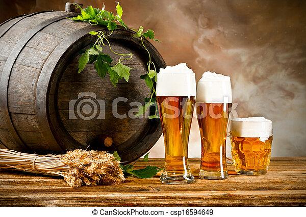 Beer still life - csp16594649