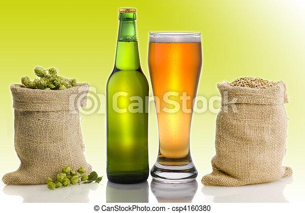 beer still life - csp4160380