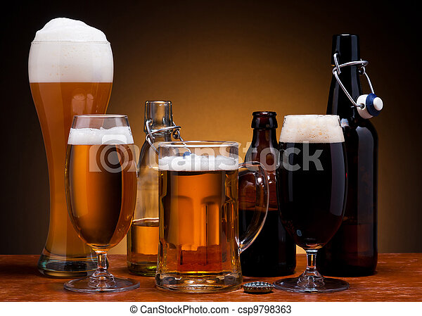 beer still life - csp9798363