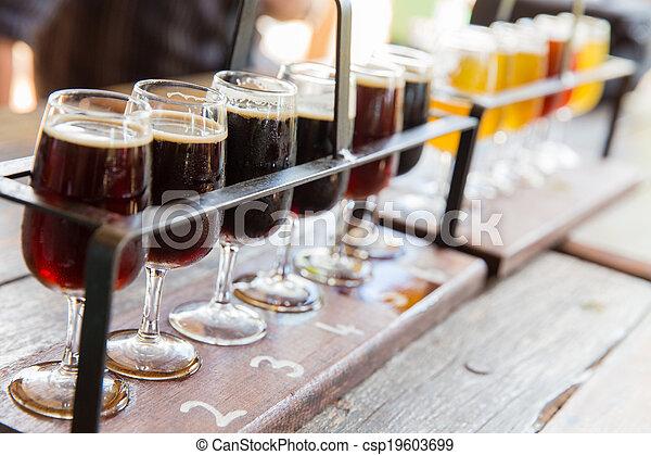 Beer tasting - csp19603699