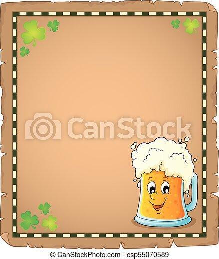 Beer theme parchment 1 - csp55070589