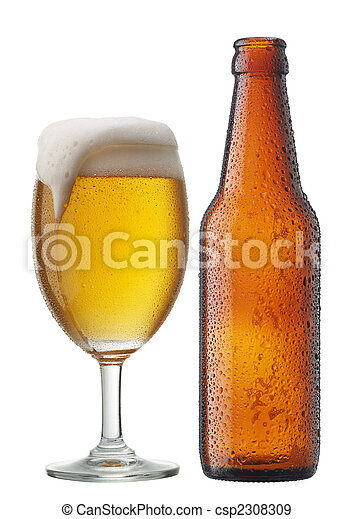 beer with bottle - csp2308309
