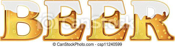 Beer word - csp11240599