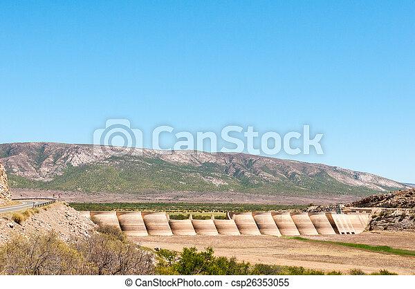 Beervlei Dam near  Willowmore, South Africa - csp26353055
